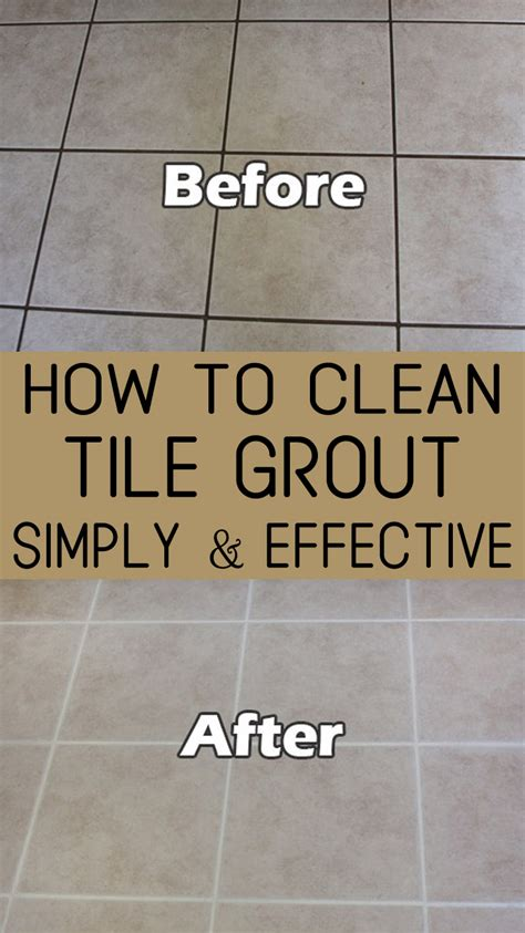 How to clean tile grout simply and effective