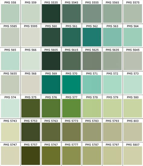 Pantone PMS colors chart - color matching for powder