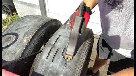 Tire Regrooving Part 1 - YouTube