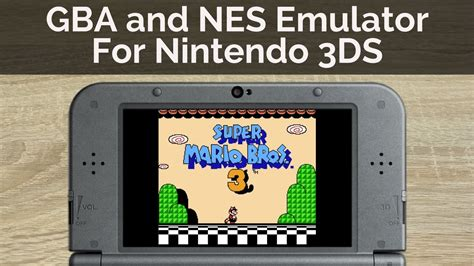 How to Play GBA and NES Games on A Nintendo 3DS - YouTube