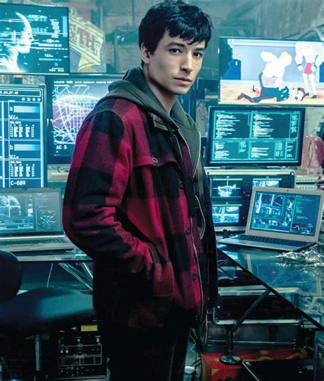 Barry Allen Justice League Azra Miller Red Checkered Plaid