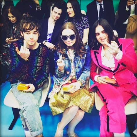 Jessica Barden + Alex Lawther at Gucci's FW18 show
