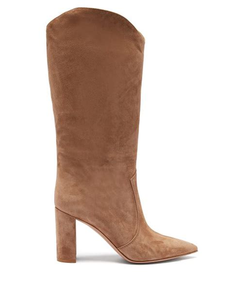 Gianvito Rossi - Slouchy 85 Knee High Suede Boots - Womens