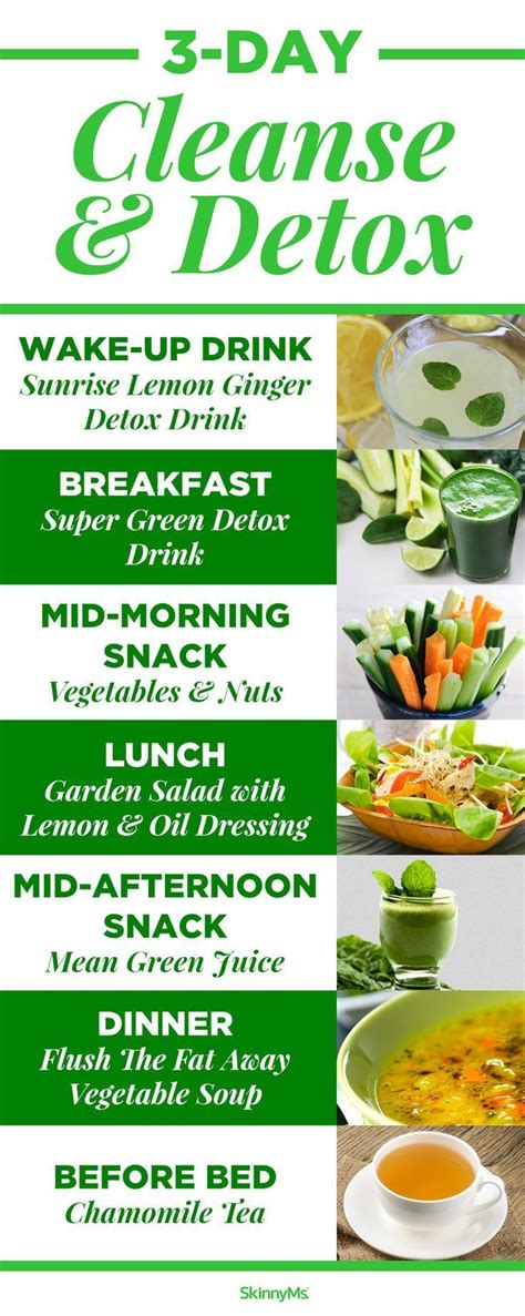 Three Day Cleanse & Detox | Detox cleanse diet, Three day
