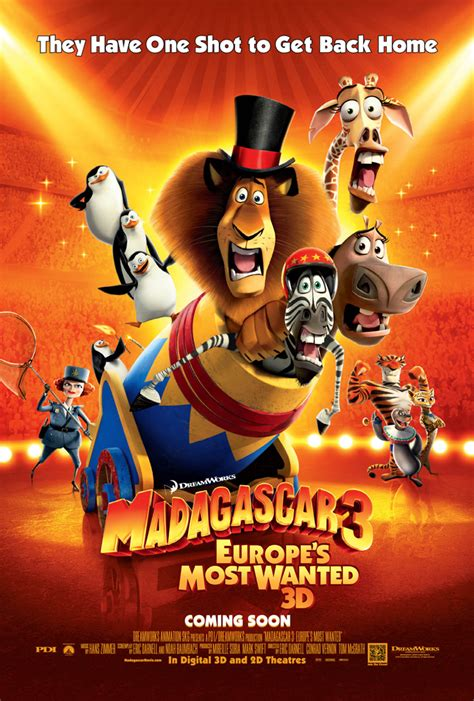 MADAGASCAR 3 EUROPE'S MOST WANTED MOVIE POSTER 2 Sided