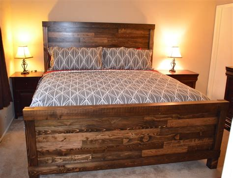 handmade king size farmhouse bed | Bed plans, Bed