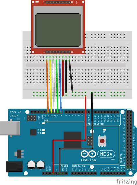 How to drive Nokia 5110 84x48 LCD display with Arduino